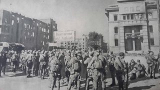 Освобождение Сталино Почтамт 1943 год